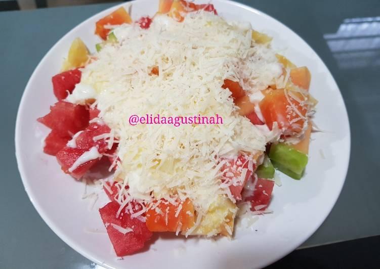 Salad Buah Mayo Keju - cookandrecipe.com