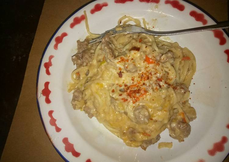 Hot Spaghetti carbonara