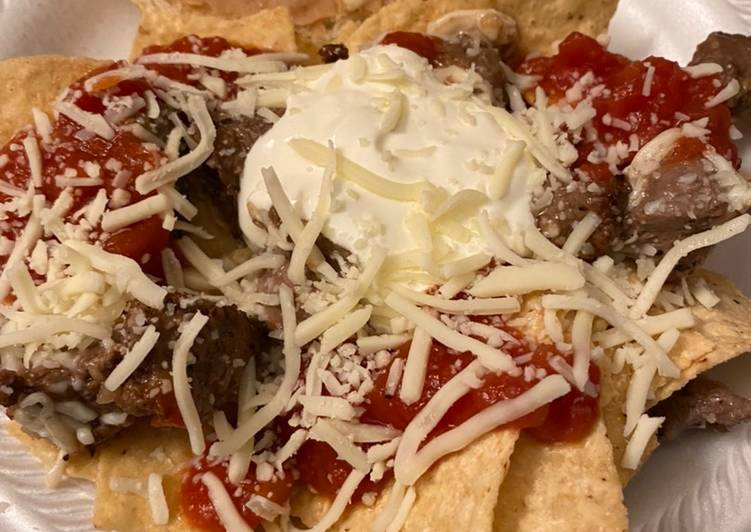 How to Prepare Any-night-of-the-week The Queen's 👑👸steak nachos