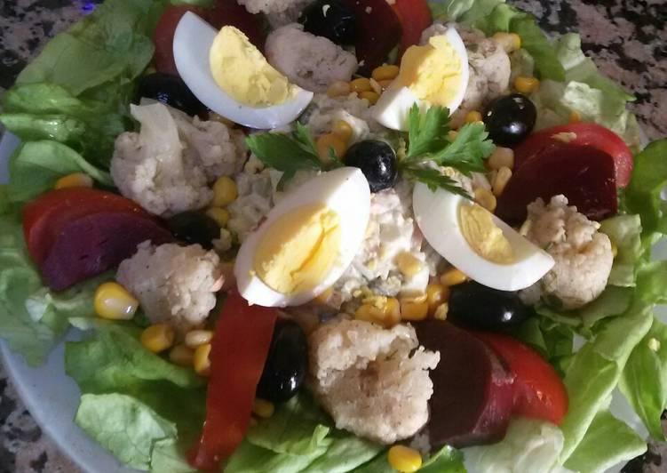 recette Salade des légume et riz au citron Le plus simple
