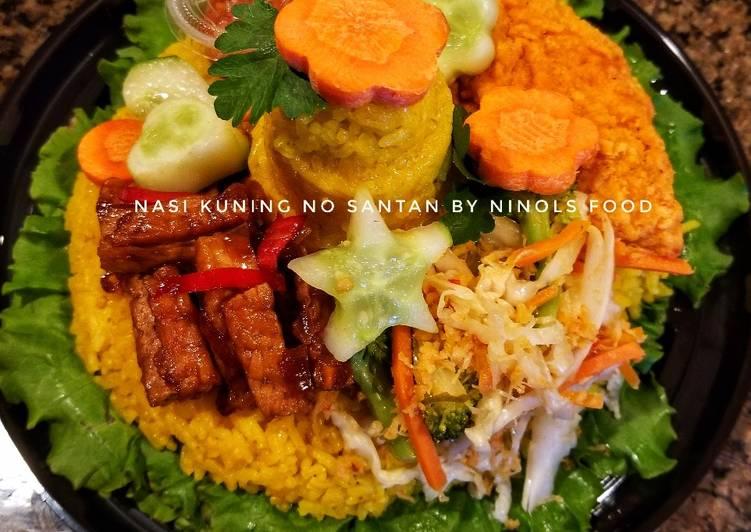 Nasi kuning (Tumini) tanpa santan