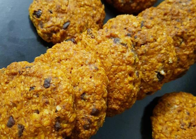 Recipe: Appetizing Oat Chocolate Cookies