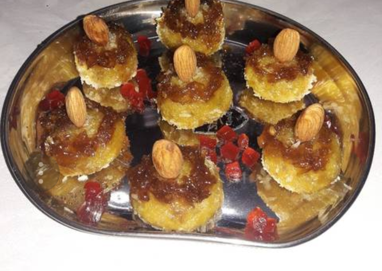 Mango gulkand and nuts peda