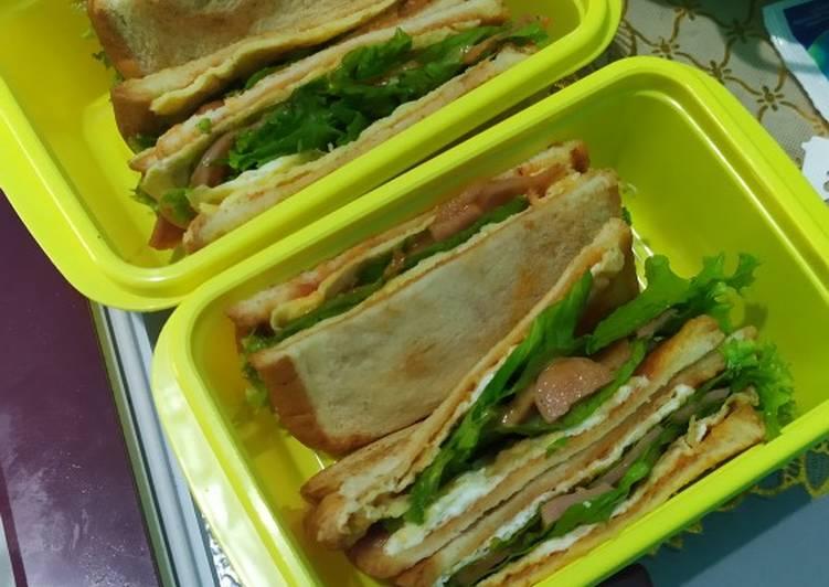 Resep Sandwich roti tawar ala anak kos Bikin Ngiler