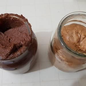 Pasta de maní, crema bon o bon y crema marroc saludable