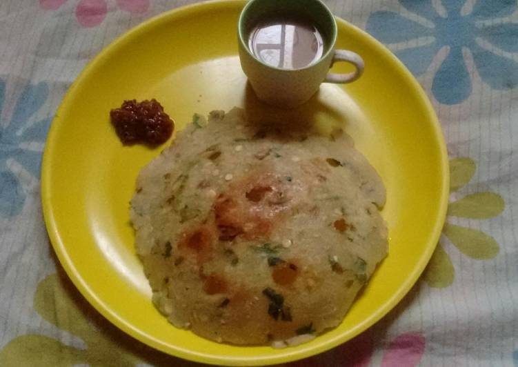 Steps to Make Favorite Sarva pindi (rice flour pancake)