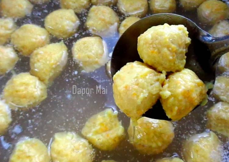 Resep Bakso Ayam Wortel Kenyal dan Enak - Dapur Mai