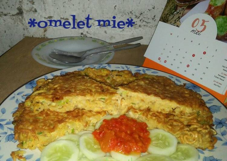 Resep *omelet mie* Yang Populer Bikin Ngiler