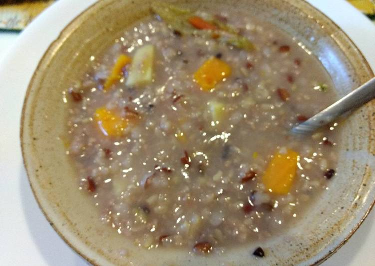 Sprouted Multigrain and sweet potato congee #healing recipe#