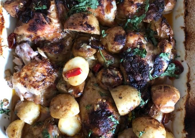 Lemon Chicken & Potato Oven Bake