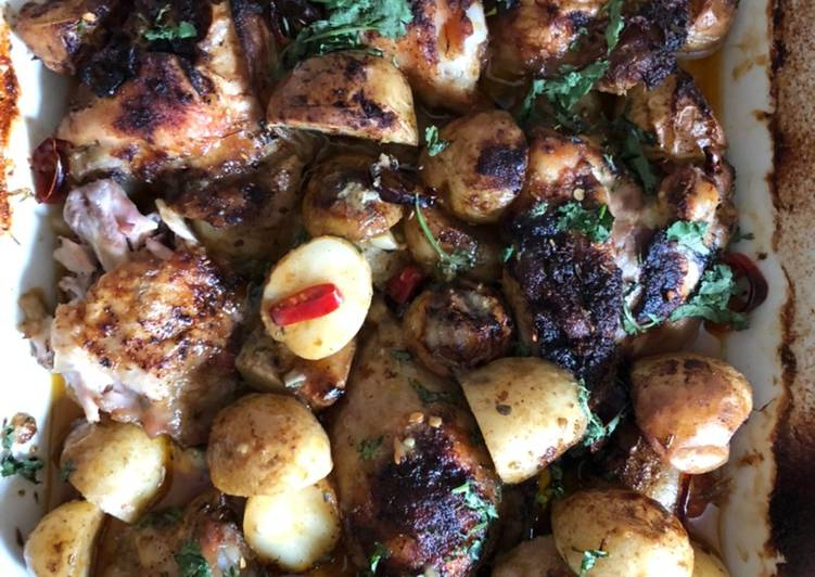 Steps to Make Super Quick Homemade Lemon Chicken & Potato Oven Bake
