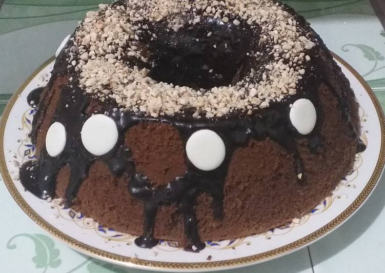 #26 Choco Coffee Chiffon Cake with Cashew Nut Crumbs🤎