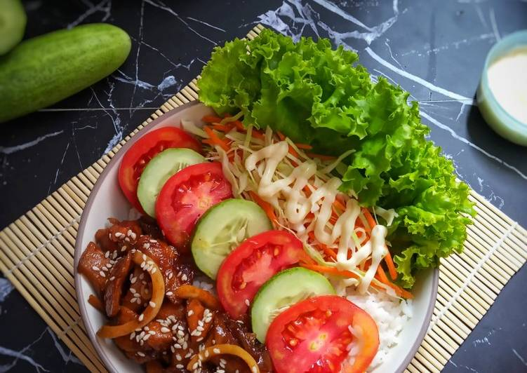 Ayam teriyaki bowl