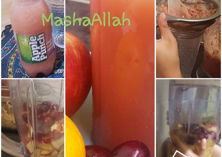 How to Make Any-night-of-the-week Luq's apple and red grape drink!