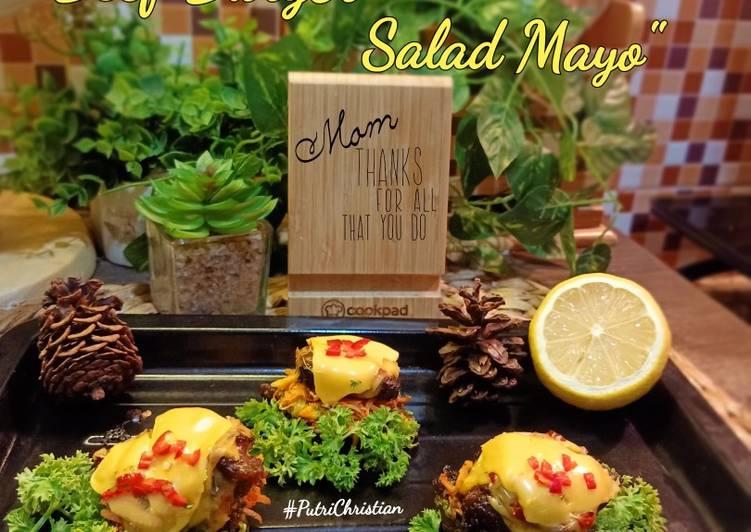 Beef burger salad mayo