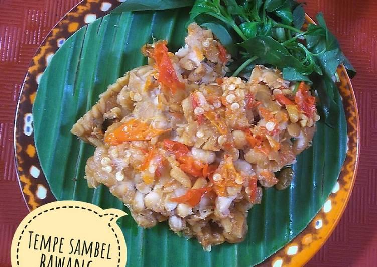 Tempe sambel bawang