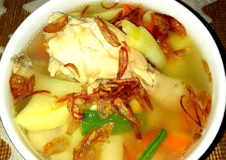 Resep Sup ayam kuah bening Yang Mudah Lezat