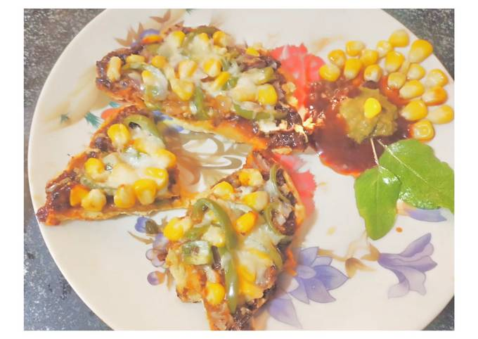 Recipe: Appetizing Besan Mexican Cheezy Slice Pizza
