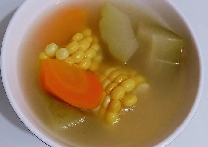 Chayote, 🌽 🥕 soup(Chinese)