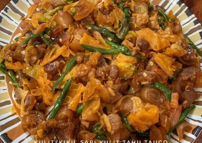 Resep Kaki/kulit sapi kulit tahu masak tauco yang Sempurna