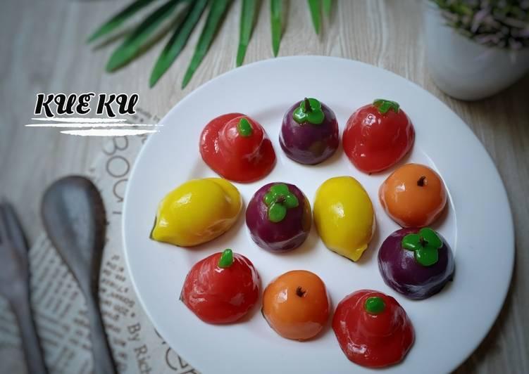 Kue Ku Bentuk Buah(isi kacang merah)