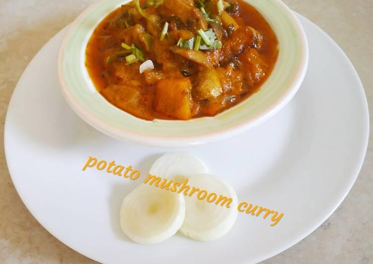 Simple Way to Prepare Quick Potato Mushroom Curry