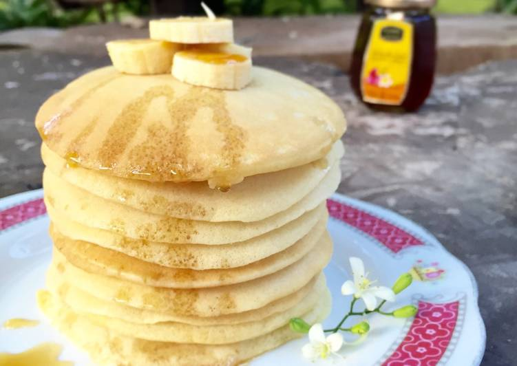 Resep Fluffy Pancake with Honey Favorit