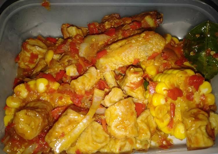 Ayam dan Otak-otak Pedas manis