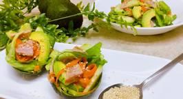 Hình ảnh món ? Jambon Salad ? Salad trái bơ ?