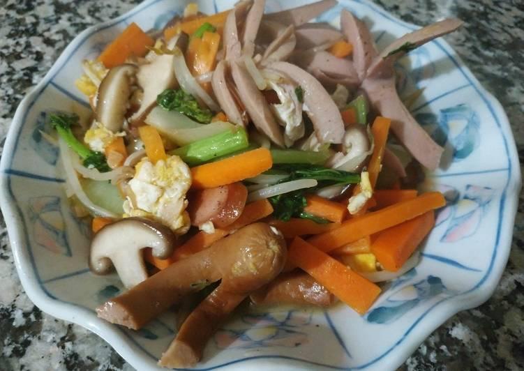 Oseng Tumis Warna Warni (Colorfull Stir Fry)