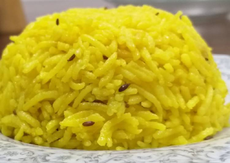 Recipe of Super Quick Homemade Cumin n Tumeric rice#my unique rice recipe#authors marathon