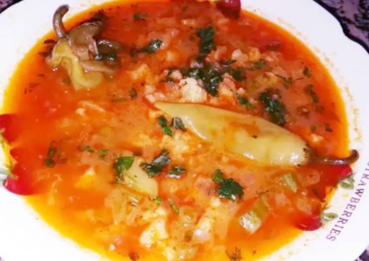 How to Make Yummy Soupe au pain kabyle (Le reste du pain au petit dés et soupe)