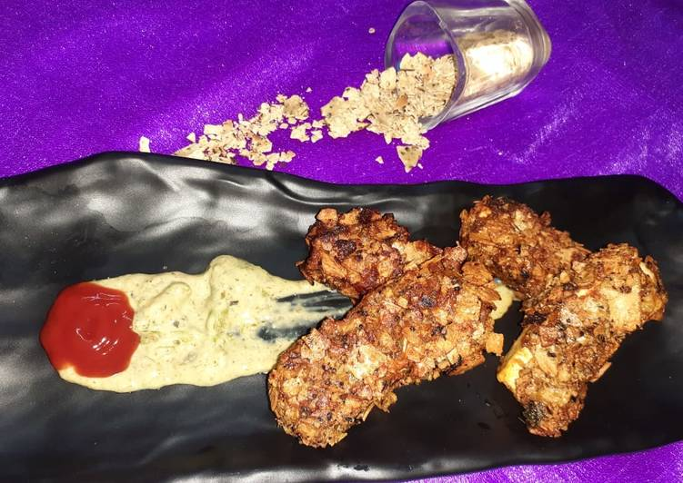 25 Minute Recipe of Homemade Crunchy Cottage Cheese Poppers With Mayo Dip