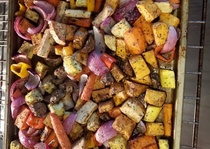 Oven roasted vegies