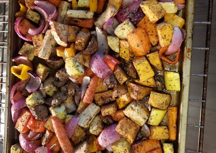 Recipe of Ultimate Oven roasted vegies