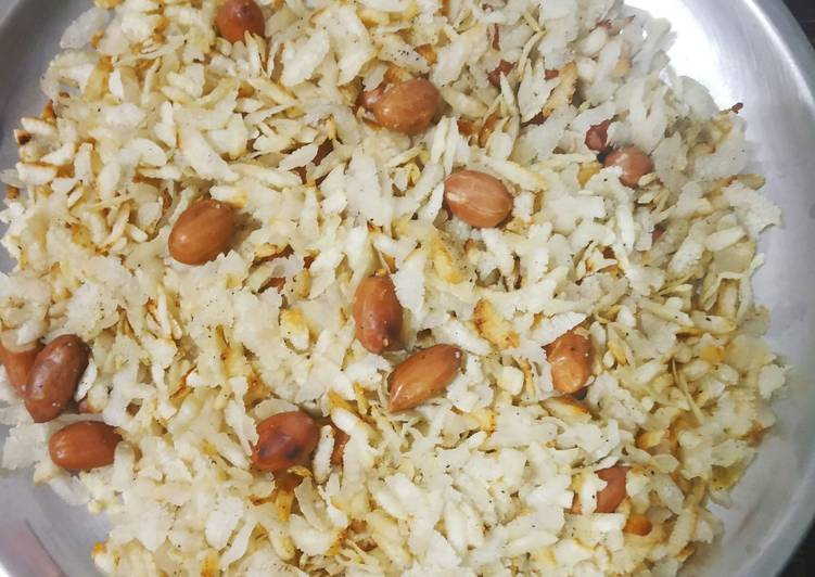 Crunchy poha snack - Laurie G Edwards