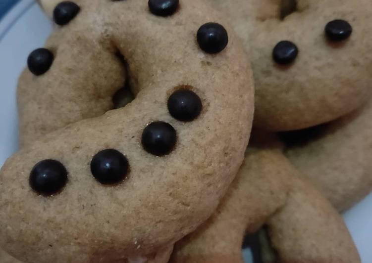 Donat Oven Gandum Jahe isi Keju Coklat Selai Kacang