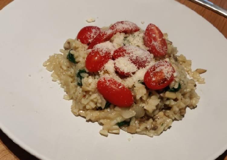Recipe of Homemade Mushroom / Spinach risotto
