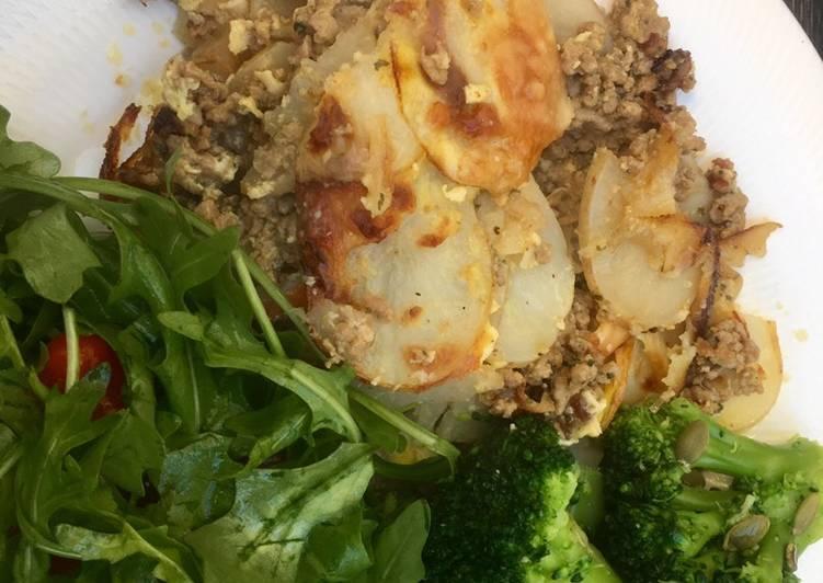Meat & potato moussaka