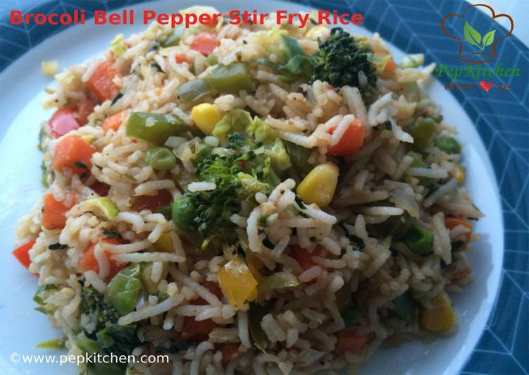Broccoli Bell Pepper Stir Fry Rice
