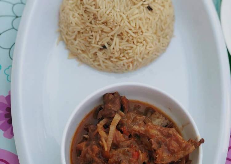 Afghan rice&lamb in ketchup&mayo