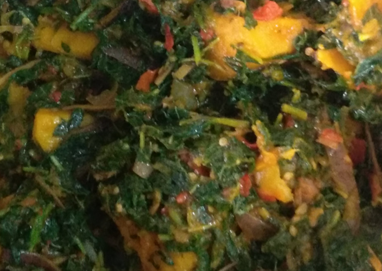 Simple Way to Make Homemade Vegetable yam (ji akwukwo nri)