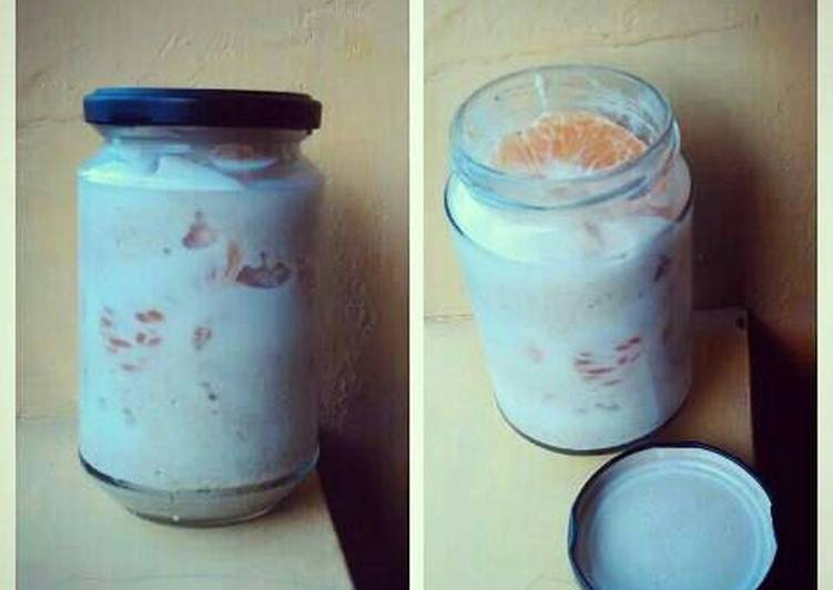 resep overnight oatmeal with fruits ala