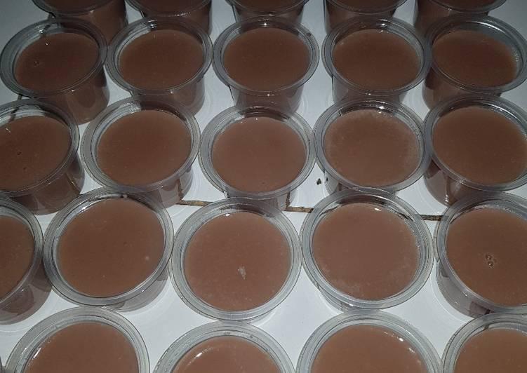 Puding Puyo Coklat Pop Ice untuk Jualan Modal Minim