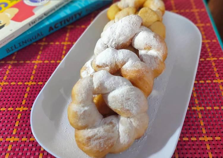 Twisted Donuts / donat tanpa telur ekonomis tapi enak dan empuk