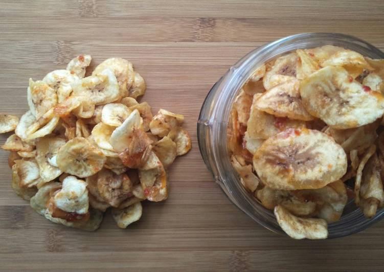 Kripik Pisang Karamel Pedas