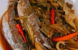 Cá nục kho dưa cải
