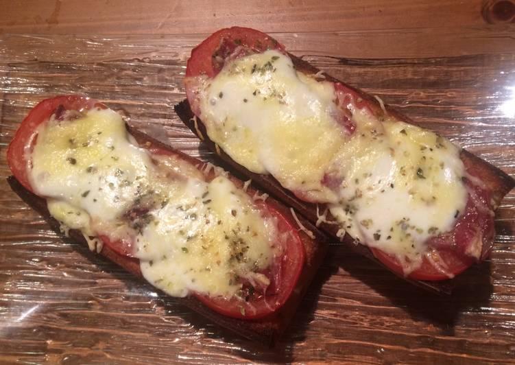 Tartines tomates Coppa mozzarella