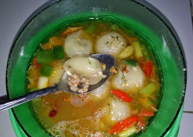 Cilok Kuah Isi Ayam Cincang