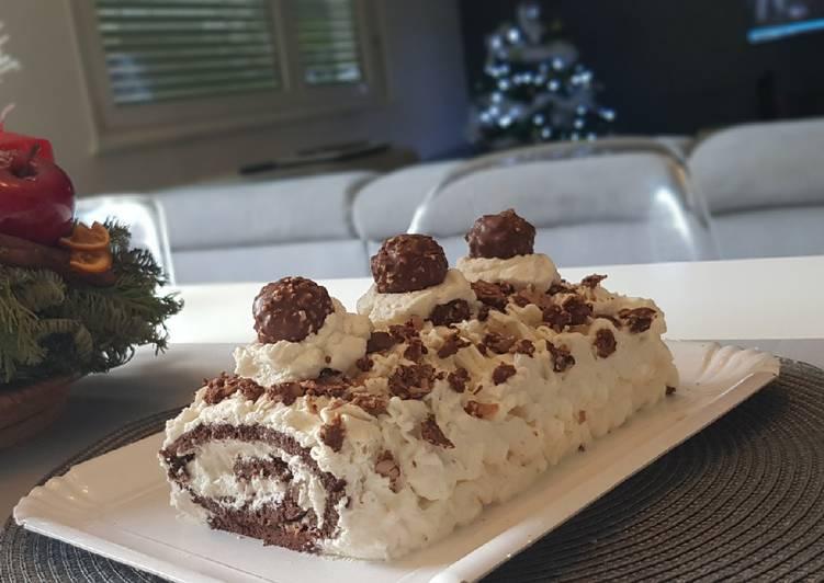 Le moyen le plus simple de Faire Savoureux 35•🎄 Bûche de Noël aux Ferrero Rocher 🎄